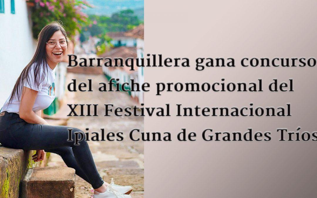 Laura Patricia Gallardo Oyola, quien bajo el seudónimo Piña Vainilla presentó su propuesta con el título 'Noche de Cuerdas entre montañas' al concurso del afiche promocional de la décimo tercera versión del Festival Internacional Ipiales Cuna de Grandes Tríos.