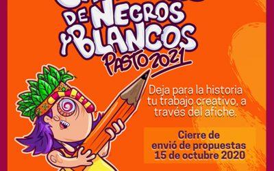 El Carnaval no convencional de Negros y Blancos de Pasto versión 2021, escogerá su afiche promocional