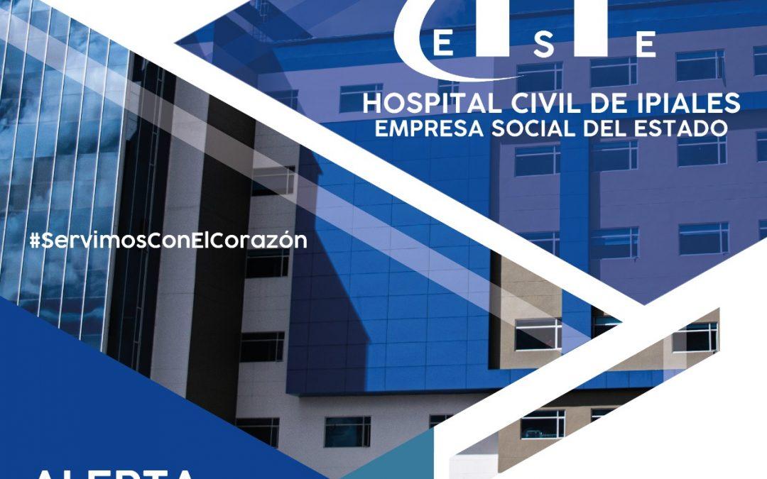 El Hospital Civil de Ipiales activa Plan de Contingencia para la atención en salud en temporada decembrina, fin y comienzo de año