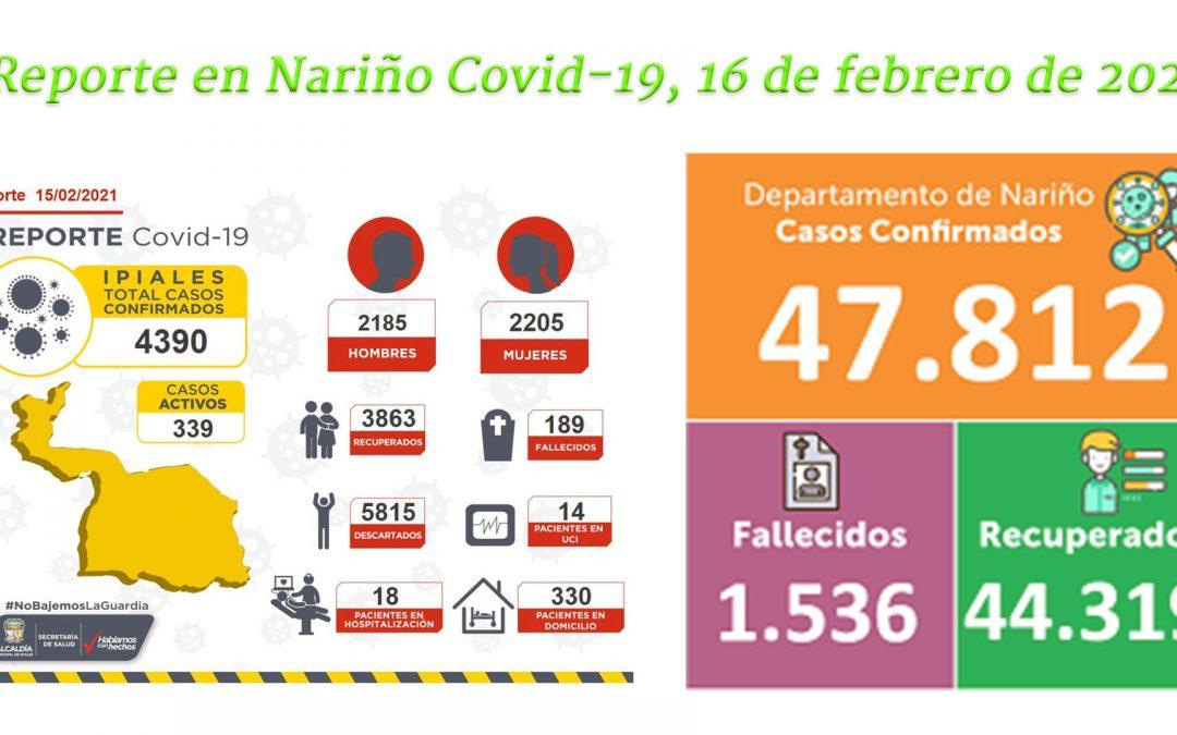En Ipiales hoy: reporta dos personas infectadas y cero óbitos consecuencia del Covid-19