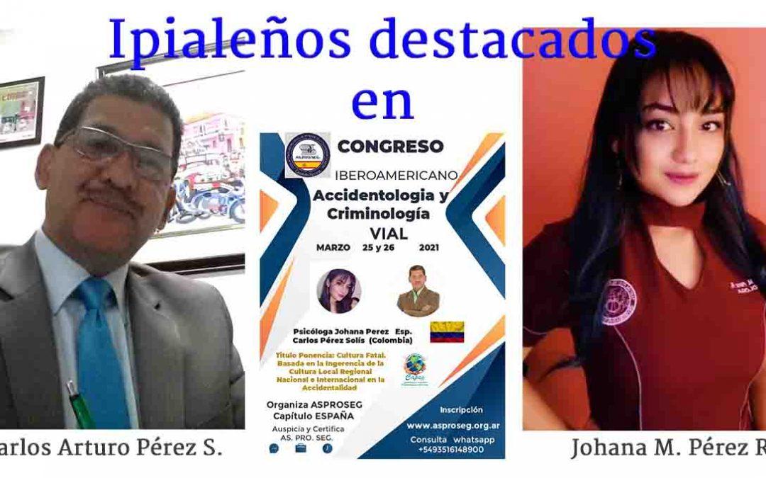Ipialeños se destacan en Congreso de Accidentalidad y Criminología Vial