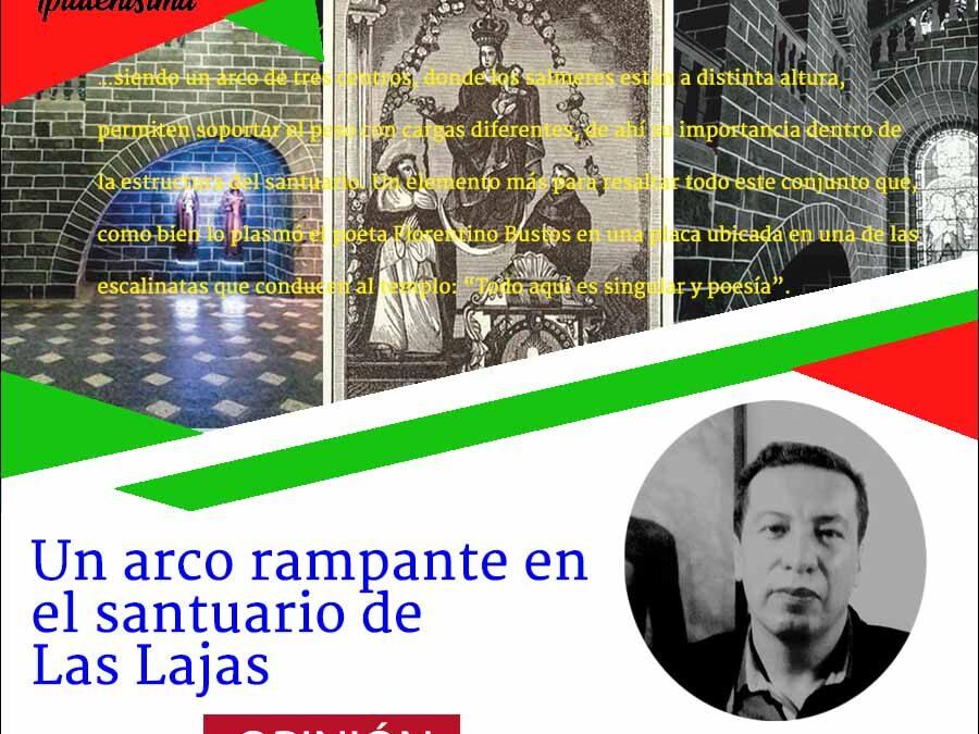 Un arco rampante en el santuario de Las Lajas