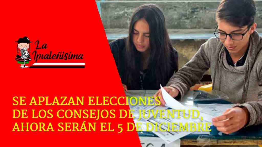 Se aplazan elecciones de los Consejos de Juventud, ahora serán el 5 de diciembre