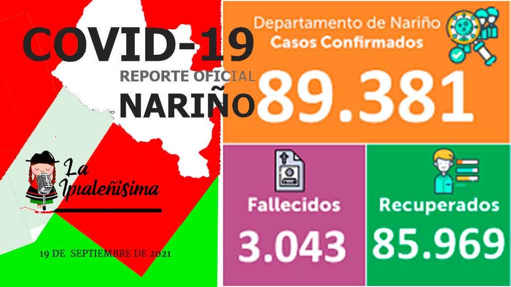 Ipiales después de 6 días vuelve a reportar un fallecido y 2 positivos, son 8.371 los contagios por Covid 19.