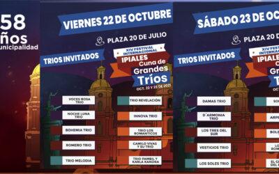 XIV versión del Festival Internacional Ipiales Cuna de Grandes Tríos